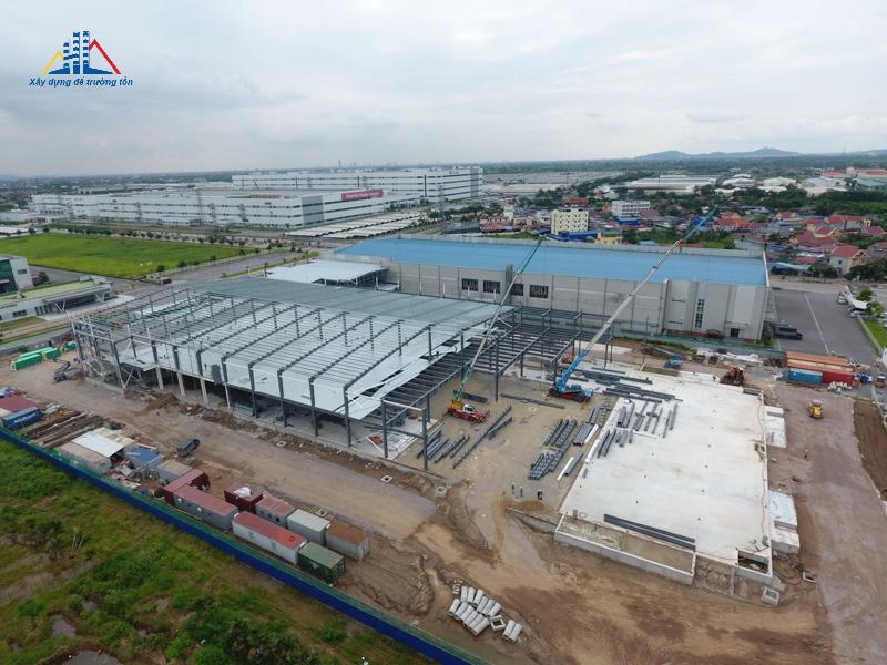 Nhà thép tiền chế dự án Haesung