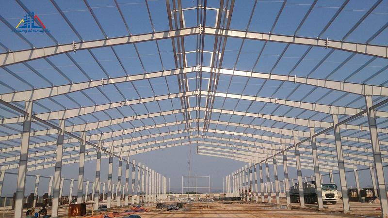 Nhà thép tiền chế dự án nến AIDI Việt Nam