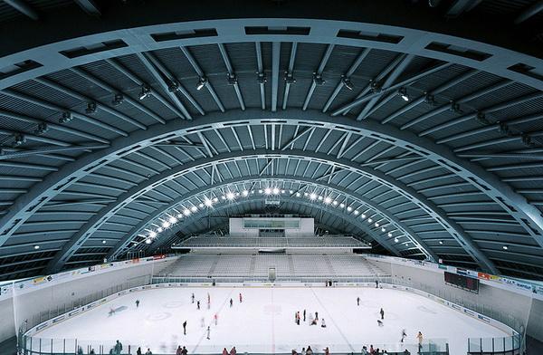 Sân vận động khúc côn cầu ở Jaca, Aragon, Tây Ban Nha
