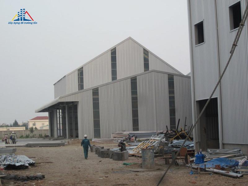Nhà thép tiền chế dự án nhà máy chăn nuôi CP Hải Dương