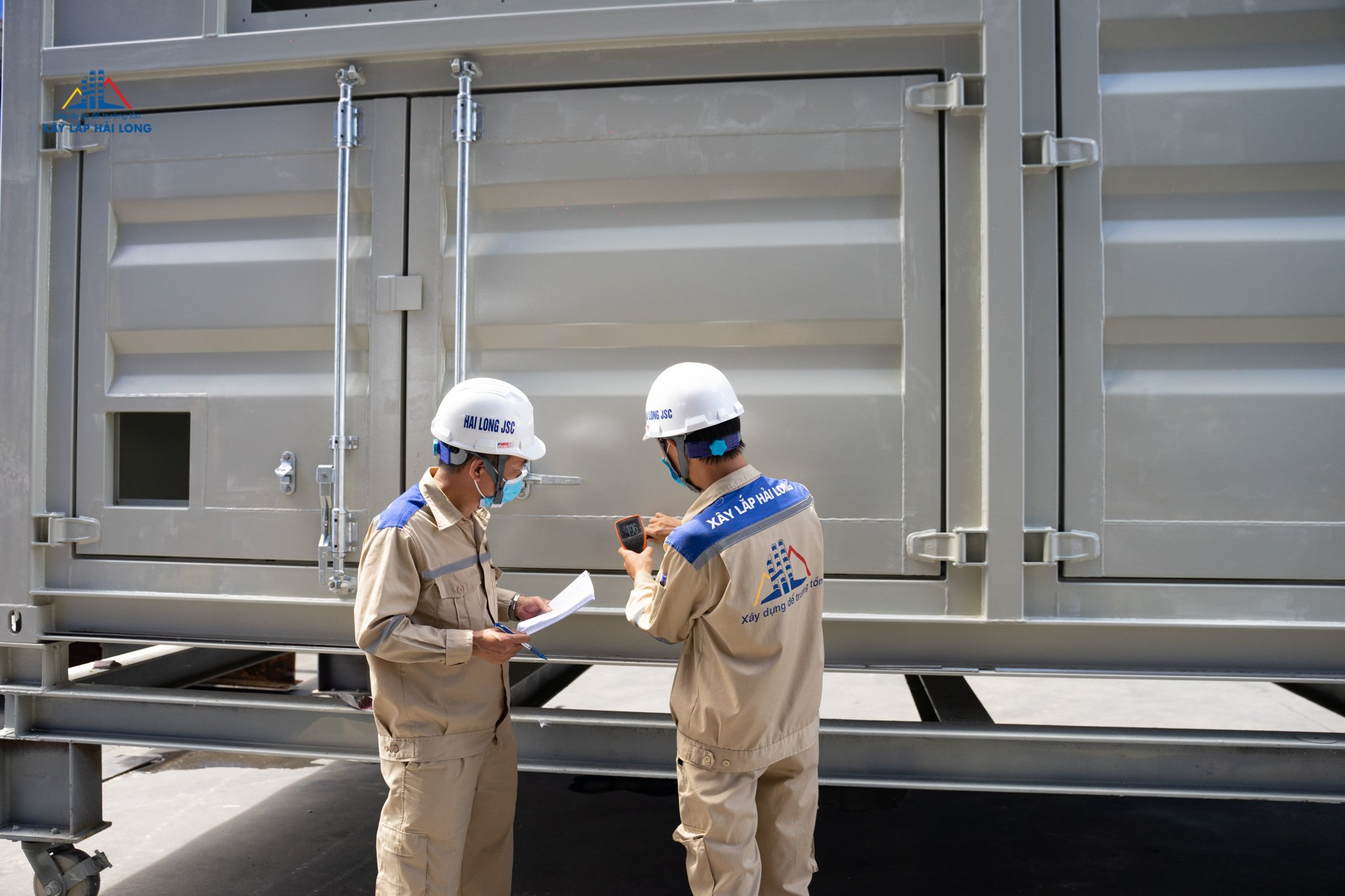 Hai Long Construction Joint Stock Company joins the chain of high-tech container production